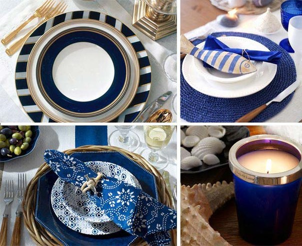 table-setting-beach-themed-party-blue-color-palette & Sea inspired table setting and ideas for your beach themed party