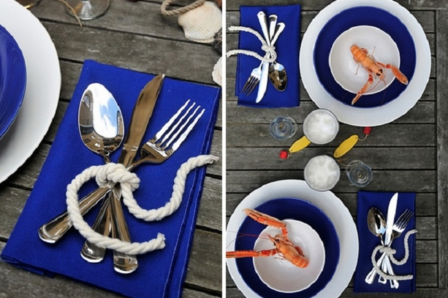 table-setting-beach-themed-party-cuttlery-tied-with-rope