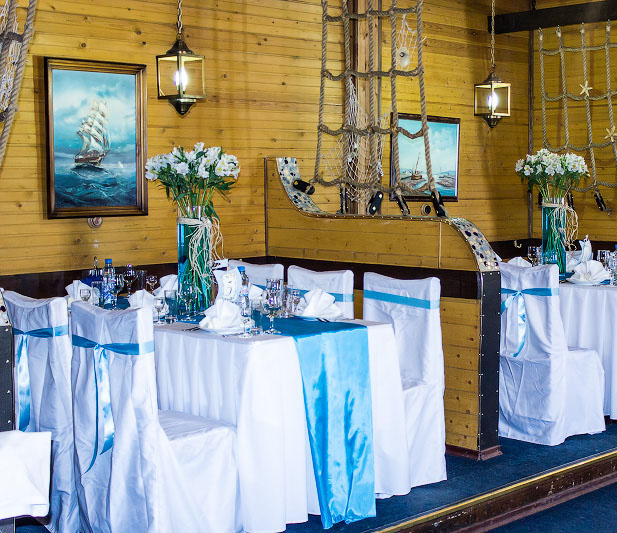 Table Setting Beach Themed Party Wedding Blue Table Runner