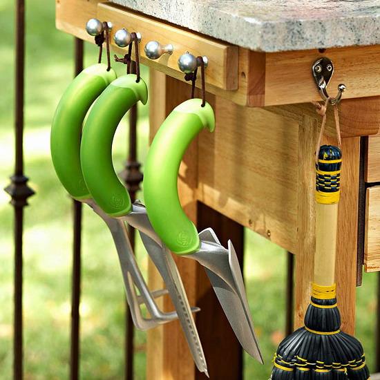 Deck Decorating Ideas Hooks Gardening Tools Hanging