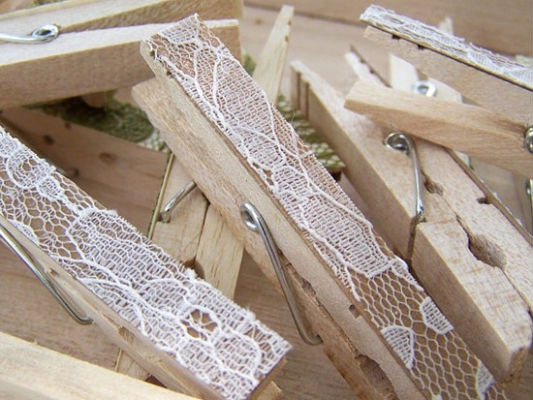 decorating clothespins lace crafts vintage look