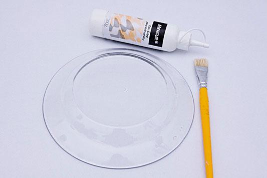 decorative wall plates decoupage on glass plate