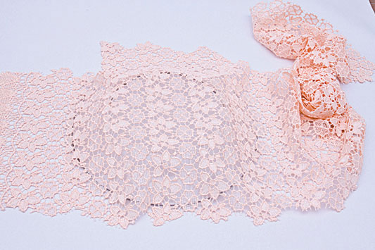 decorative wall plates decoupage pink  lace glass