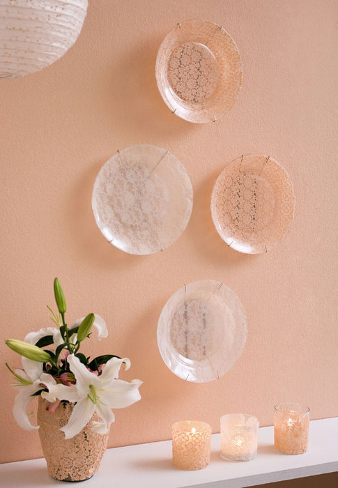 Wall Decor Glass Plates : Diy decorative wall plates decoupage on glass and
