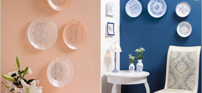 DIY decorative wall plates – Decoupage on glass and ceramic plates