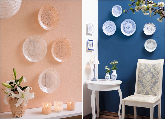 DIY decorative wall plates , Decoupage on glass and ceramic
