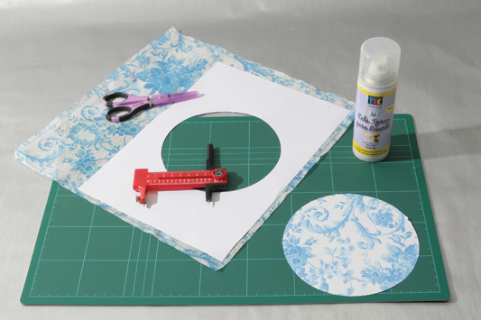 decorative wall plates napkins blue flowers masking tape