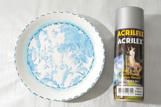decorative wall plates varnish napkin decoupage