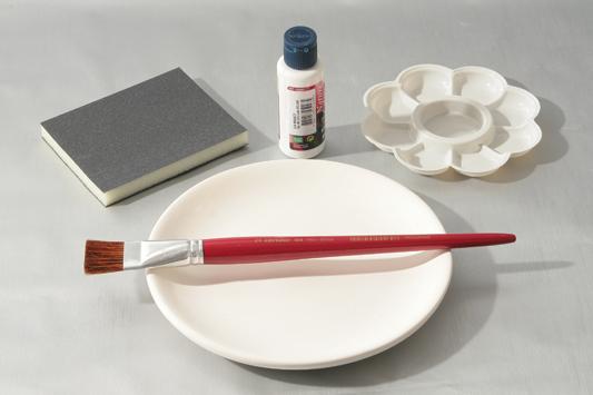 decoupage wall plates napkin blue diy idea