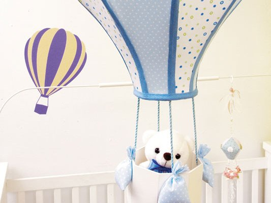 Diy Crafts For Baby Room: Make Hot Air Balloon Themed