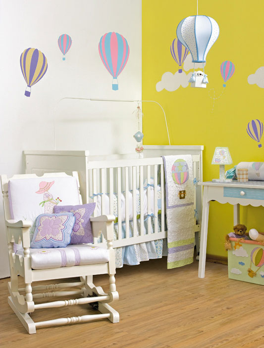 6 diy baby room decor ideas make hot air balloon themed for Babies decoration room