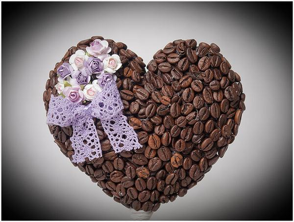 diy birthday gift topiary coffee beans flowers