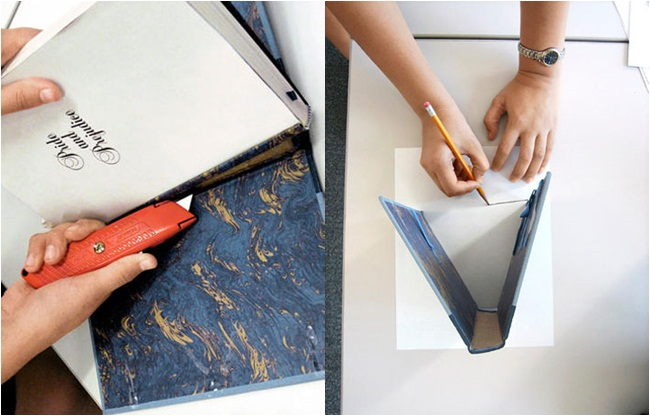 diy book hardcover clutch bag tutorial idea