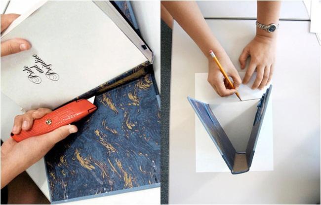 diy book hardcover clutch bag tutorial idea