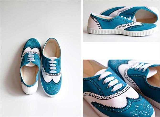 diy canvas shoes ideas twenties fashion style