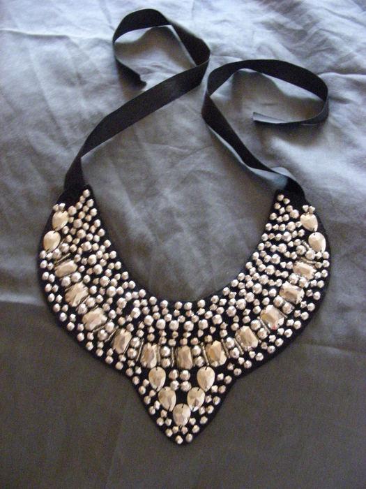 cuentas de oro collar collar de bricolaje tutorial de cuero negro