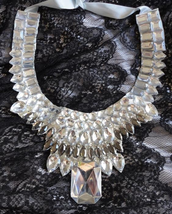 collar collar de piedras preciosas blancas bricolaje joyas de verano