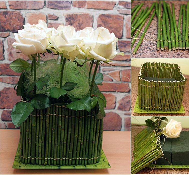 Diy flower arrangement ideas easy rose centerpieces