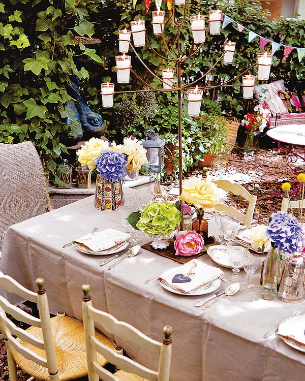 Diy Garden Decorations Candle Stand Table Summer Party