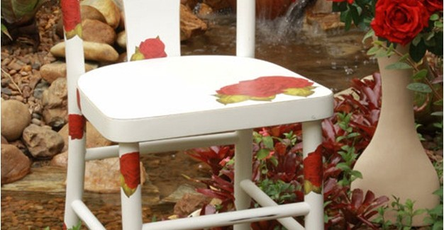 DIY ideas to decorate old garden furniture – Colourful garden chairs
