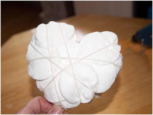 diy gift idea heart topiary cotton facial pads