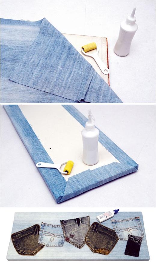 diy ideas denim jeans organization wall back pockets
