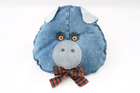 diy ideas denim pig cushion old jeans