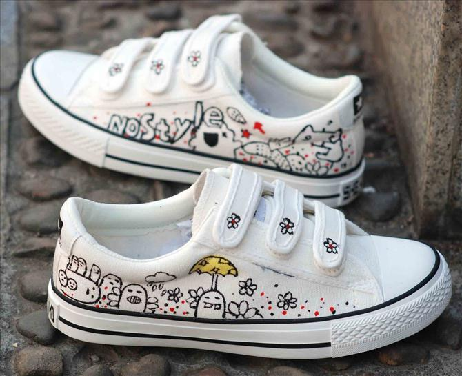 diy kids canvas shoes ideas marker drawing