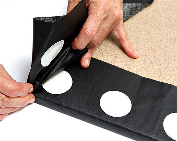 diy kitchen storage ideas laminated fabric cork board