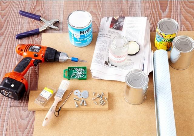 diy kitchen utensils storage wall mdf materials needed