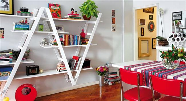 diy ladder bookshelf ideas composition upside down