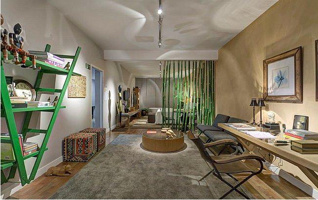 diy-ladder-shelf-upside-down-living-room-green -