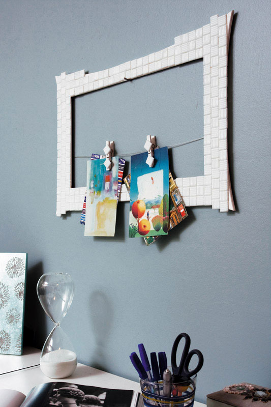 diy message board frame clothespins wall decor