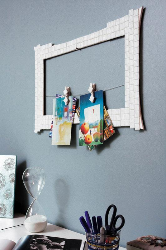 diy message board frame clothespins wall decor