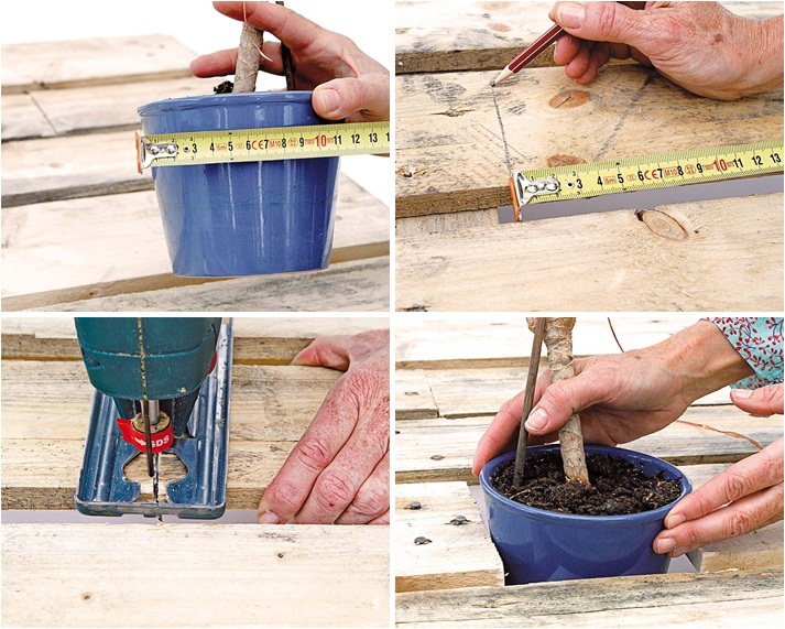 diy pallet furniture project garden plant stand side table