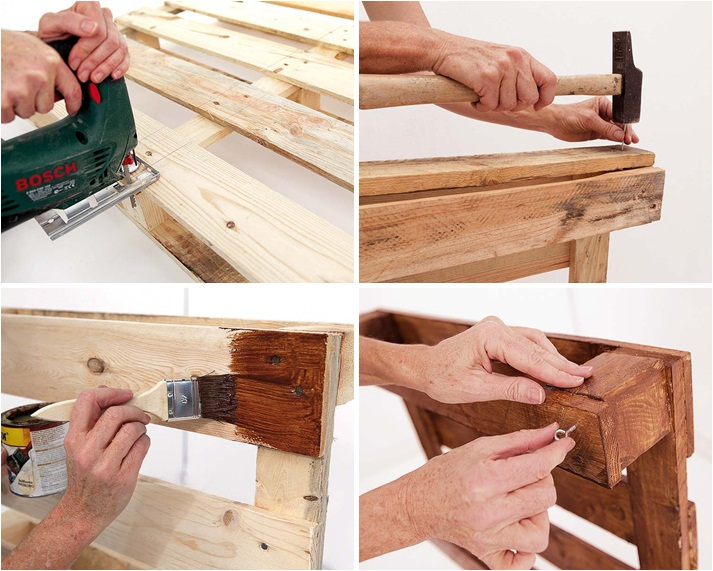 diy pallet furniture reusing building shelf