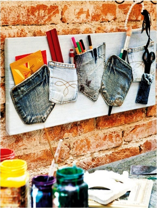 What to do with old jeans 4 diy ideas for recycling for Recycling organization ideas