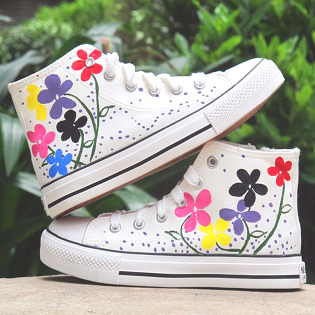 diy shoes ideas converse flowers summer spring mood