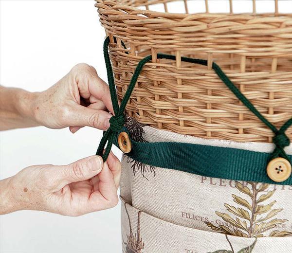 diy storage gardening tools hand wicker basket pocket