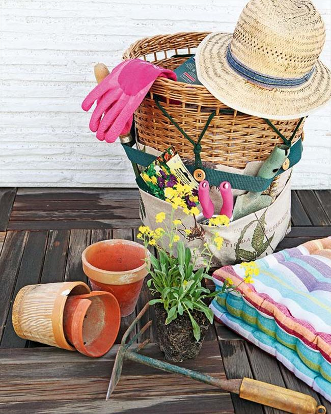 diy storage ideas hand garden tools organizer wicker basket