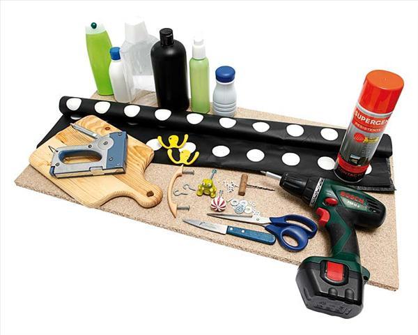 diy storage ideas kitchen cork board laminate fabric materials