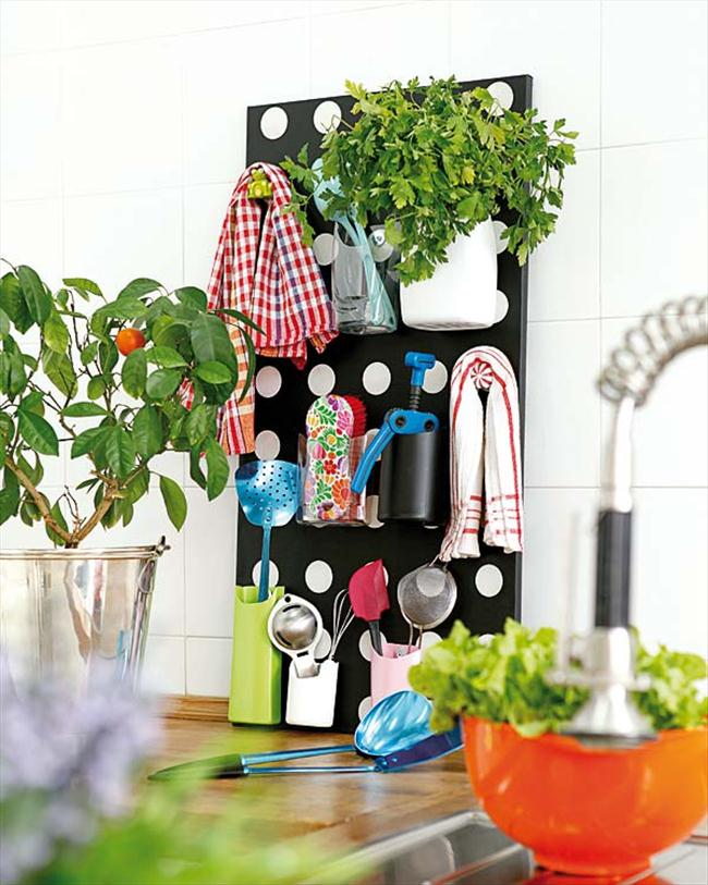 diy storage ideas kitchen utensils empty shampoo bottles cork board