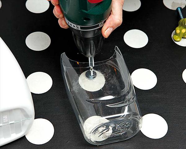 diy storage kitchen ideas utensils empty shampoo bottles