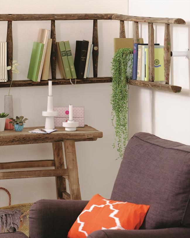 DIY ladder shelf ideas – Easy ways to reuse an old ladder at home