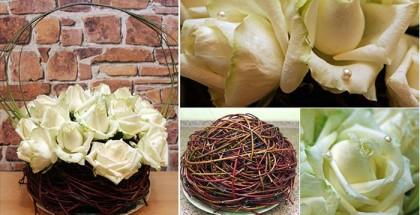 diy-wedding-flower-arrangement-table-white-roses-ball-sticks