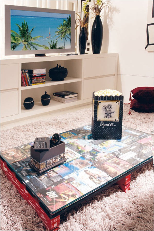 diy wood pallet furniture ideas home coffee table dvd covers movie fan
