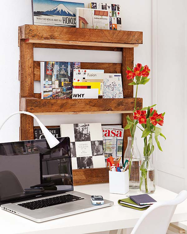 diy wood pallet furniture shelf ideas organizing home office