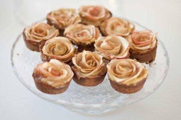 mini apple roses tarts muffins mini pies