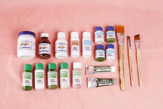 paint plain garden chair acrylic paint colours brushes