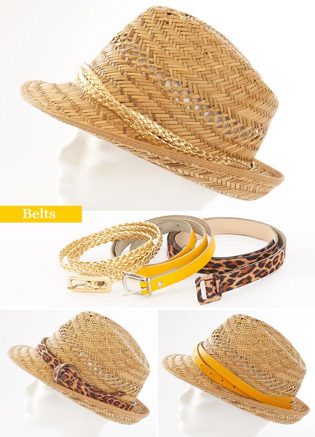 summer crafts ideas straw hat decorate belts
